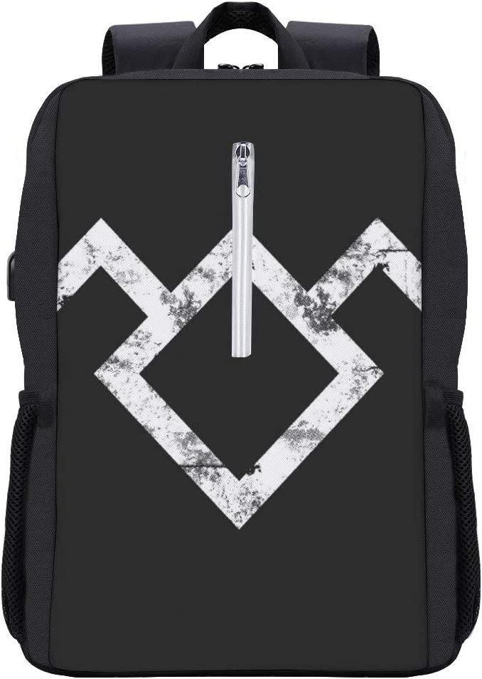 Owl Symbol Twin Peaks Backpack Daypack Bookbag Laptop School Bag with USB Charging Port