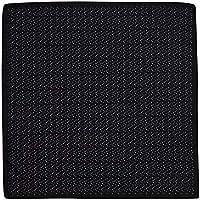 Lenço de bolso preto com pontos cinza e branco