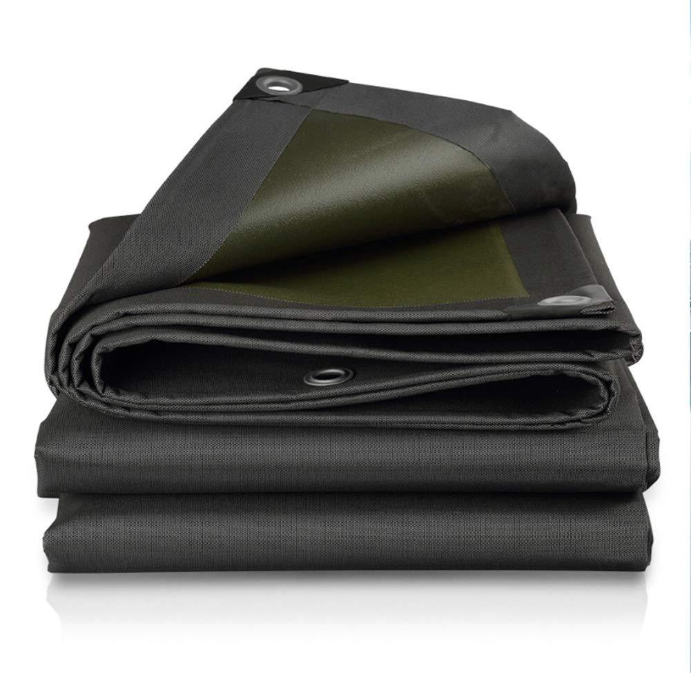 LIXIONG オーニング屋外の シェード 防雨布 厚さ0.66mm 防寒 保存料 オックスフォード布、 18サイズ (色 : ブラック, サイズ さいず : 5.8x5.8m) 5.8x5.8m ブラック B07Q8SHJZ8