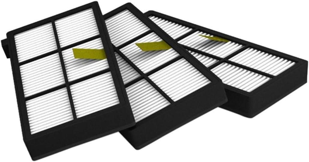 Fulltime/® 3 St/ück Ersatz Hepa Filter f/ür i-Robot Roomba 800 870 880 Serie Staubsauger Ersatzteil Kit