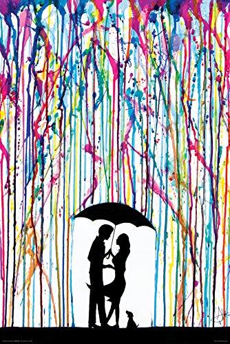 Couple Under Umbrella - 8