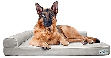 PetFusion - Cama de Espuma viscoelástica para Perro (BetterLounge) con Forro Impermeable y Funda