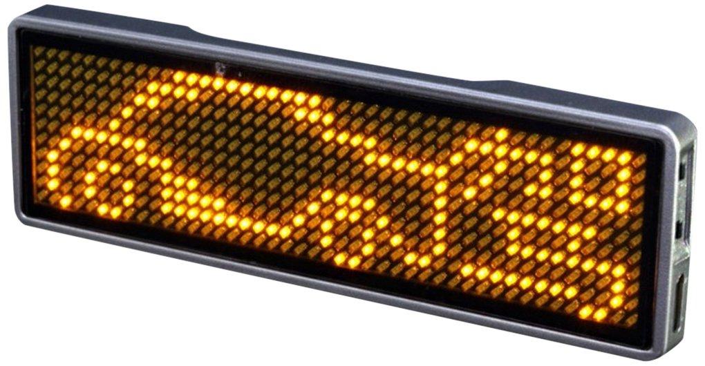 Wasserdicht LED Namensabzeichen USB LED-Laufschrift Schild rot