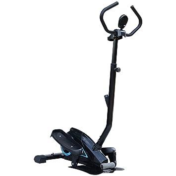 Homcom Entrenador Elíptico de Fitness Bicicleta Elíptica Resistencia Ajustable Pantalla LCD Manillar Ajustable Carga 110kg Acero