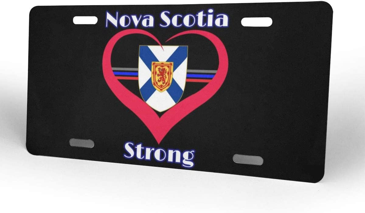 Nova Scotia Strong Heart Aluminum License Plate Frame Front Car Tag Metal Sign Cover for Car Decoration 6 X 12