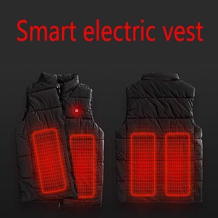 Non Inclus Power Bank SNOWFLU Hommes /électrique Doudoune Gilet,Lavable USB Chargeant Hiver V/êtements Chauds Chauff/és,pour Activit/és de Plein Air Chasse Randonn/ée en Plein Air Ski P/êche
