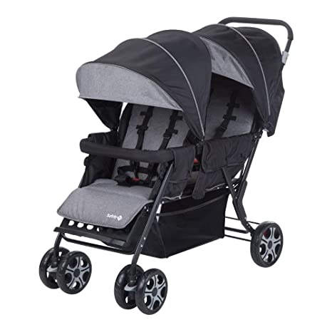 Safety First TEAMY DUO Black Chic - Silla de paseo DUO, color negro
