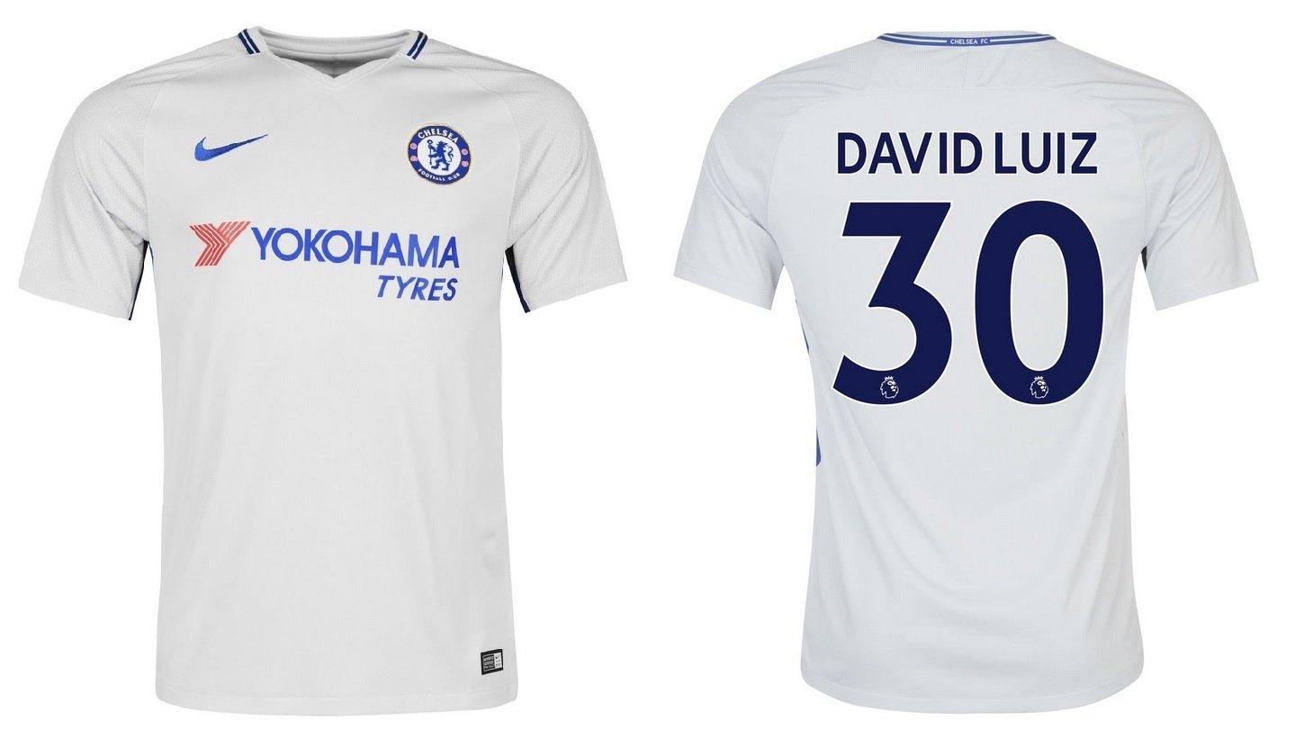 Trikot Kinder FC Chelsea 2017-2018 Away - David Luiz 30