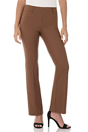 44e12ff4ce93 Rekucci Women s Ease in to Comfort Fit Barely Bootcut Stretch Pants ...