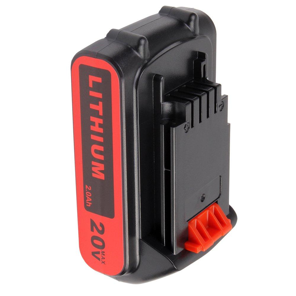 2.0Ah 20V LBXR20 Battery for Black & Decker, Li-ion Replacement Battery for B&D LBXR20-OPE LB20 LBX20 LBX4020 LB2X4020-OPE Cordless Power Tools