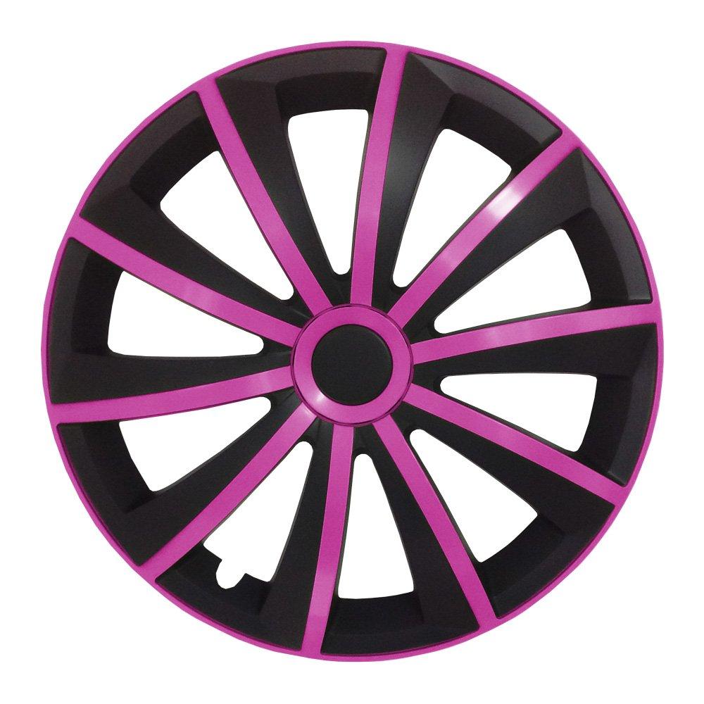 16 Zoll Radkappen // Radzierblenden GRALO MATT universal Schwarz-Pink passend f/ür fast alle Fahrzeugtypen Gr/ö/ße w/ählbar