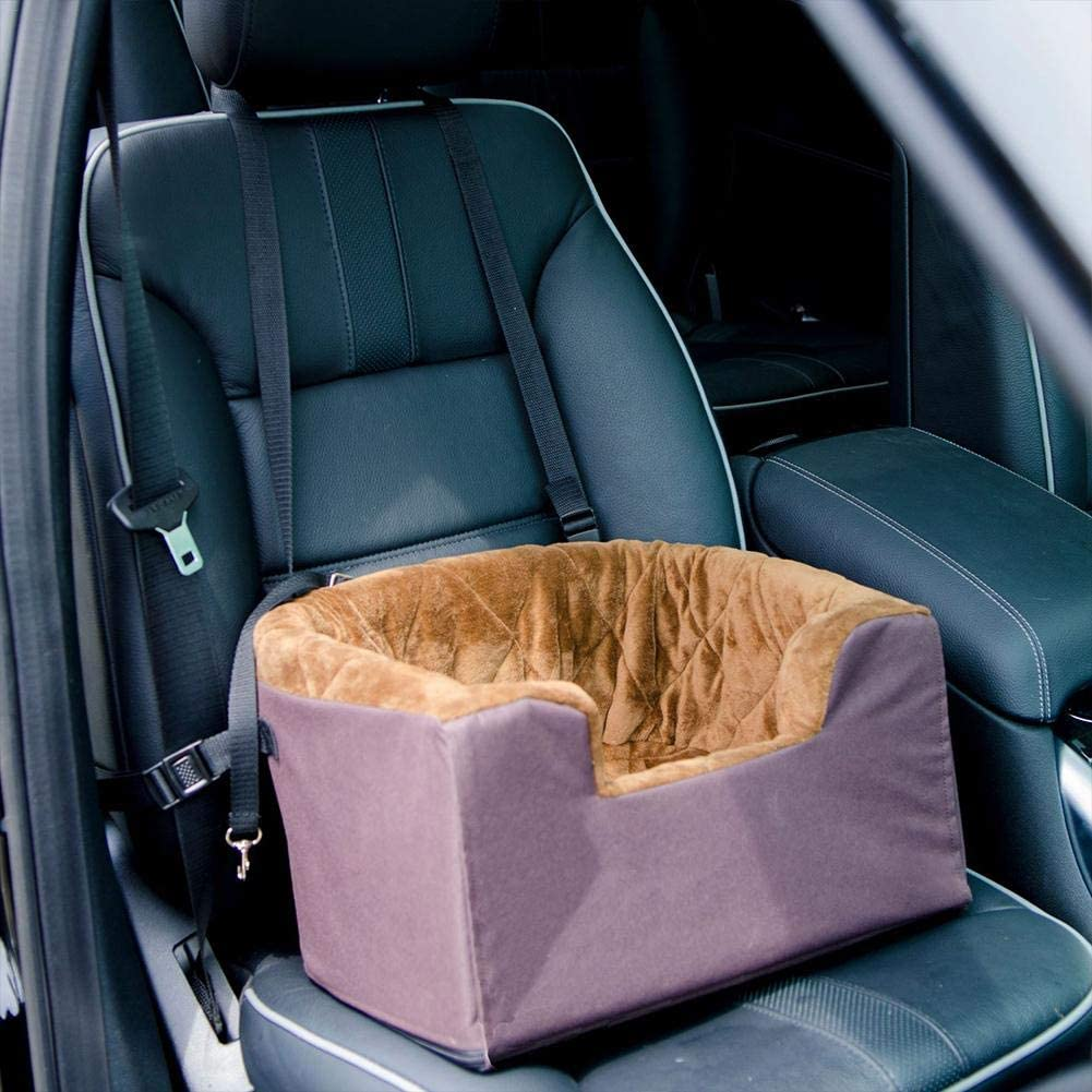 flower205 Pet Car Basket , Hundeautositz Pet Booster-Sitz Pet Travel Safety Autositz Hundebett f/ür Auto mit Aufbewahrungstasche Pet Nest