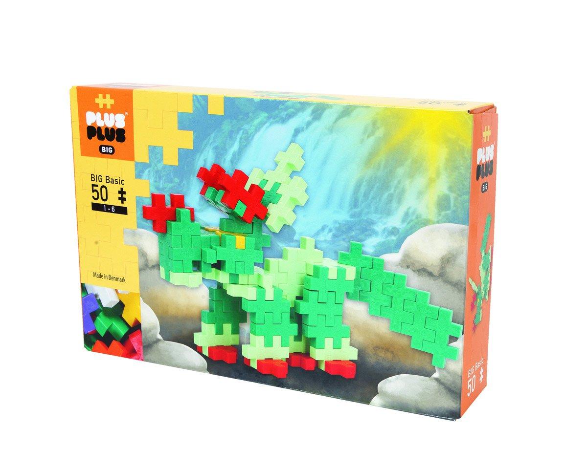PLUS PLUS – Box 50 Pièces Basic – Dinosaure - Jeu de construction - Educatif et Ludique – A Partir De 3 ans – Fabriqué Au Danemark