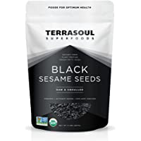 Terrasoul Superfoods Organic Black Sesame Seeds (Unhulled) - 2 Pounds