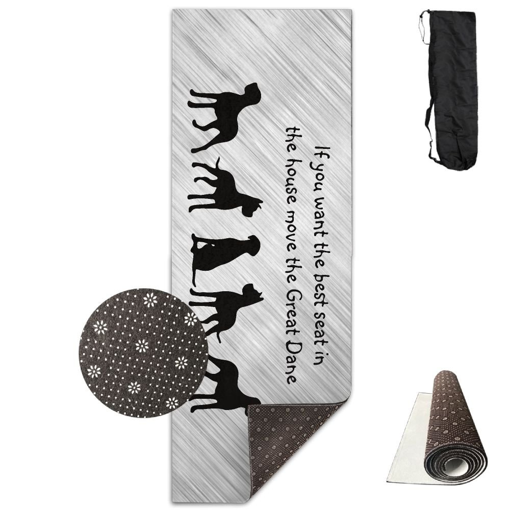 Unisex Great Dane Humor Best Seat In House Dog Custom Printing Yoga Mats With Carrying Bag by YJDr-MAT