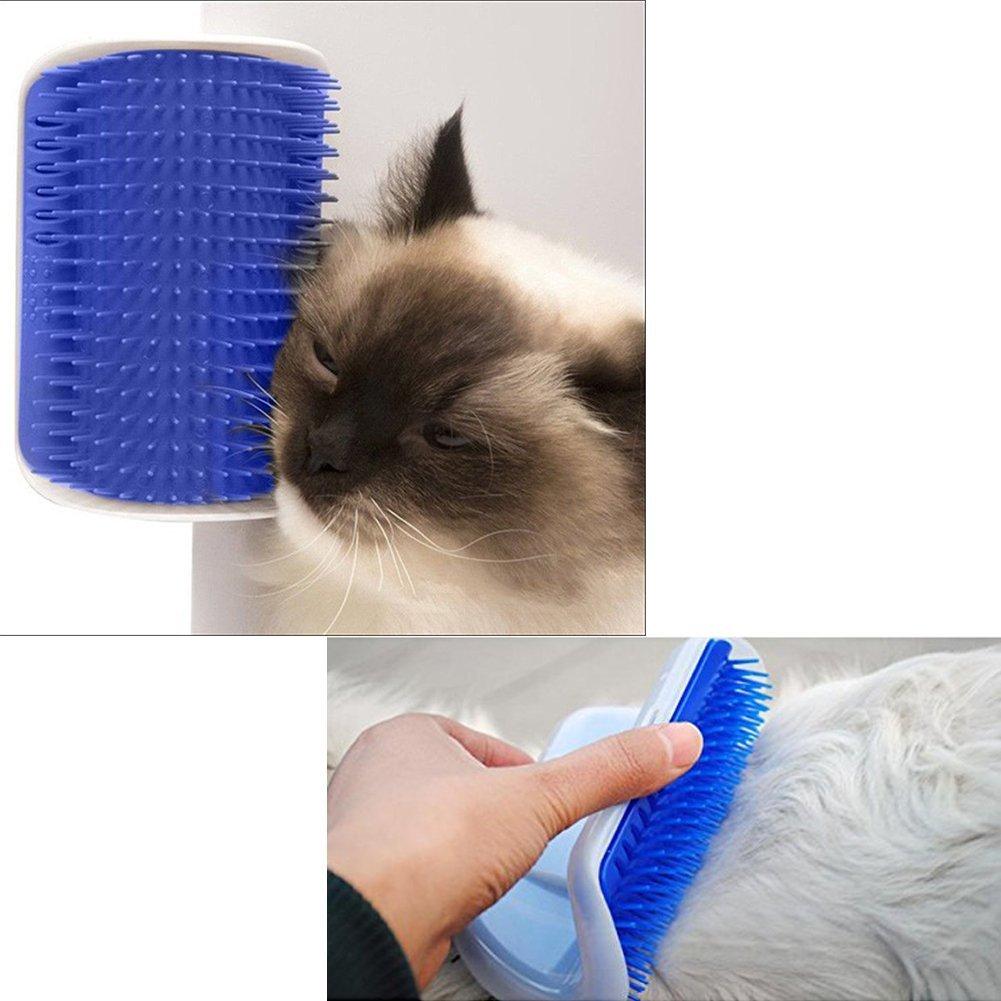 zero81store/® Spazzola Autopulente per Gatto con Supporto per Porte Pareti e Angoli In Morbido Silicone pettine spazzola in silicone Tavolo
