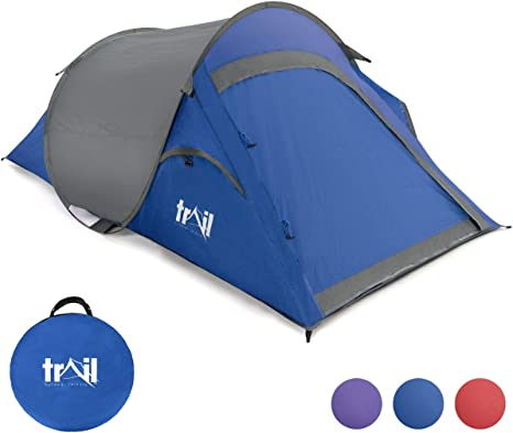 Tent 2 Man Easy Quick Pitch Two Person