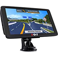Xgody GPS Navigation for Car Truck GPS Navigation System 2021 Map 7 Inch Touchscreen Car GPS Navigator 8GB 256M with…