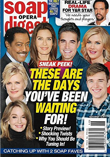 Soap Opera Digest Magazine - November 13, 2017 - Deidre Hall, Mary Beth Evans, Alison Sweeney & Chandler Massey (Days of Our Lives)