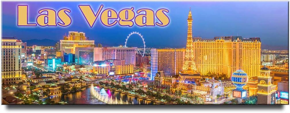 Las Vegas Strip panoramic fridge magnet Nevada travel souvenir