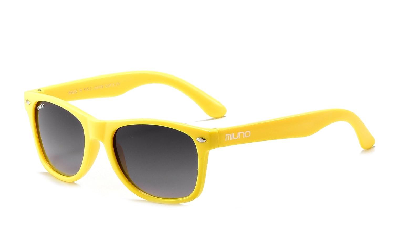 miuno® Gafas de sol infantiles polarizado dual-polarized Wayfare funda para niños y niñas 6833 a amarillo amarillo: Amazon.es: Ropa y accesorios