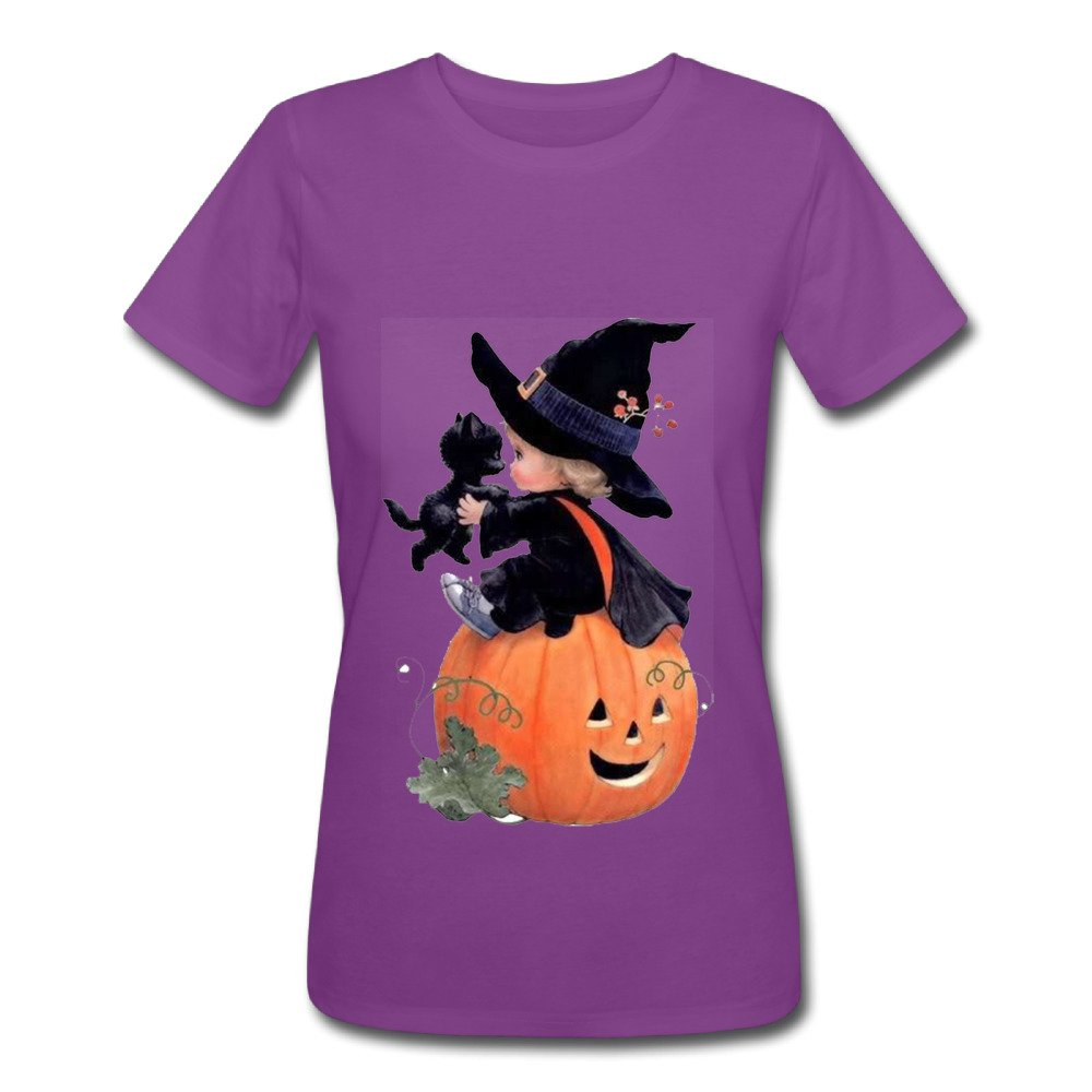 Halloween GlowingWomen Tops T-Shirt Casual Girls Tees Clothes Vest Summer