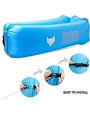 Luftsofa, icefox Wasserdichtes Aufblasbares Air Lounger mit Tragebeutel, zum Schlafen im Freien, im Innenbereich, zum Zurücklehnen und Entspannen, Aufblasbarer Sitzsack für Camping|den Strand| zum Fis