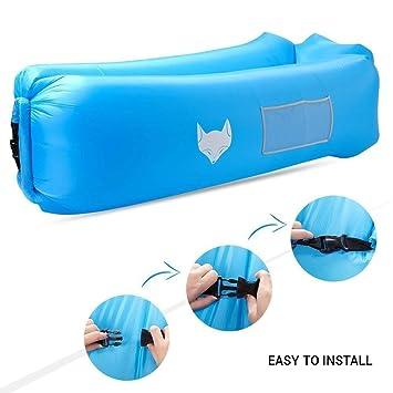 DasMeer sofá hinchable impermeable tumbona silla de compresión saco de dormir, Air Lounger inflable sofá