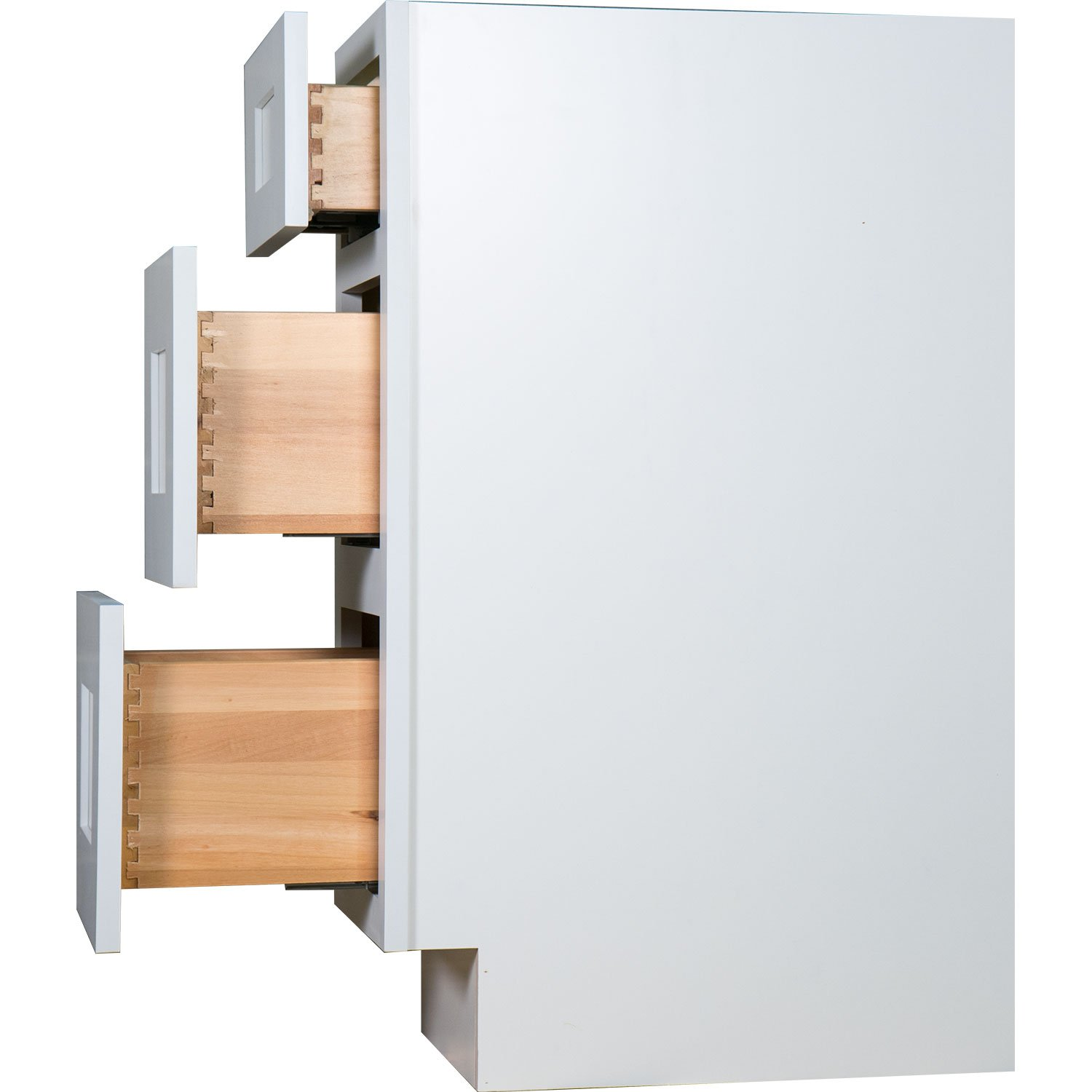 Everyday Cabinets 18 Inch Bathroom Vanity Base Cabinet In Shaker White With  Soft Close Drawers 18