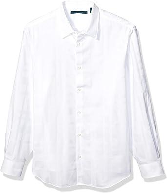 Perry Ellis Camisa de Cuadros de satén de Manga Larga para Hombre: Amazon.es: Ropa y accesorios