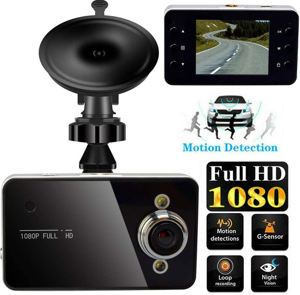 HD 1080P Car DVR Vehicle Camera Video Recorder Dash Cam Night Vision 2.4 inch LCD Screen 140° Wide Angle Camcorder Built-in Mic