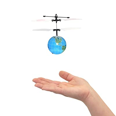 MukikiM Mini Flyer - The World! Watch it hover, float and fly like magic. Have the whole world in your hands! BRAND NEW STYLE 2016 (Newest version featuring USB charging!): Toys & Games