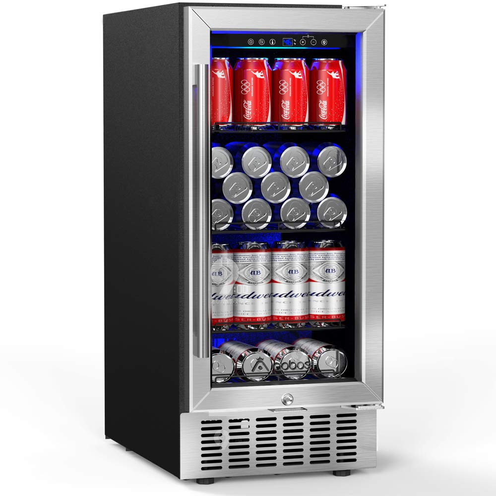 Aobosi 83 Cans Beverage Refrigerator and Cooler