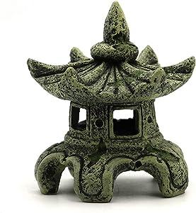 Sdeetesamjun Asian Decor Pagoda Lantern Outdoor Statue,Resin Garden Accessories