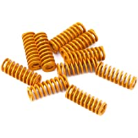 LEOWAY 8mm OD 20mm Long Light Load Compression Mould Die Spring Yellow for Heated Bed Ender 3 CR-10 CR-10Mini CR-10S…