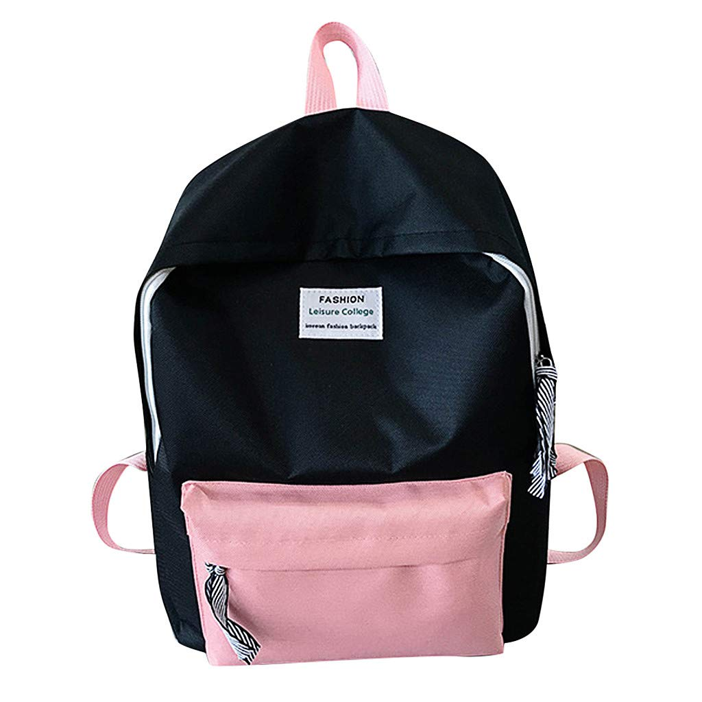 Couple Schoolbag Travel Hiking Bag Color Block Backpack Collection Luminous Bag