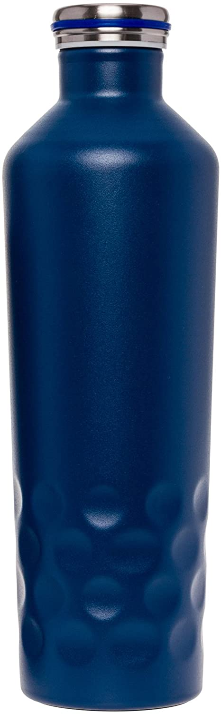 二重壁真空断熱ウォーターボトル25オンス – ステンレススチールleak-proofスポーツCanteen for Hot and Cold Drinks by Mindfulデザイン B079ZC3F25  ネイビー 25 oz