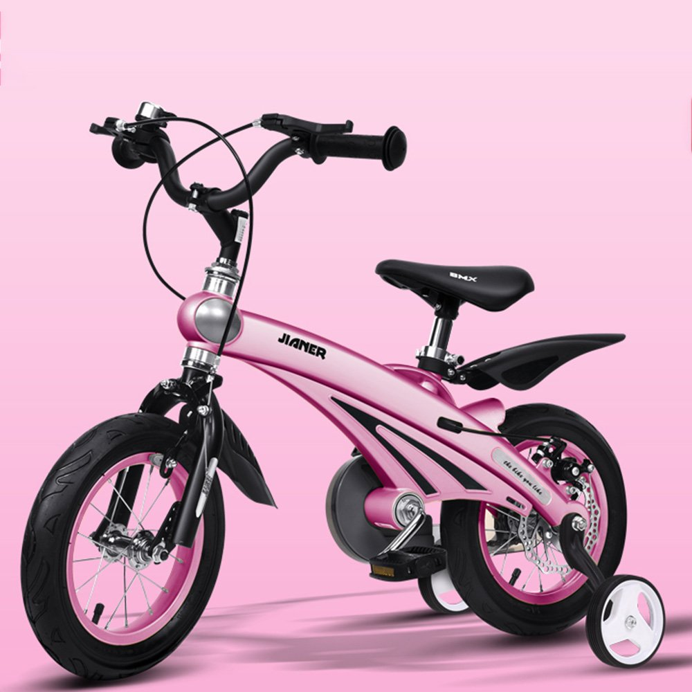 HAIZHEN マウンテンバイク 子供用自転車211歳の子供に適したマグネシウム合金のボディーバイク 12/14/16インチの三輪車 新生児 B07C6R1B9Z 16Inch|ピンク ぴんく ピンク ぴんく 16Inch