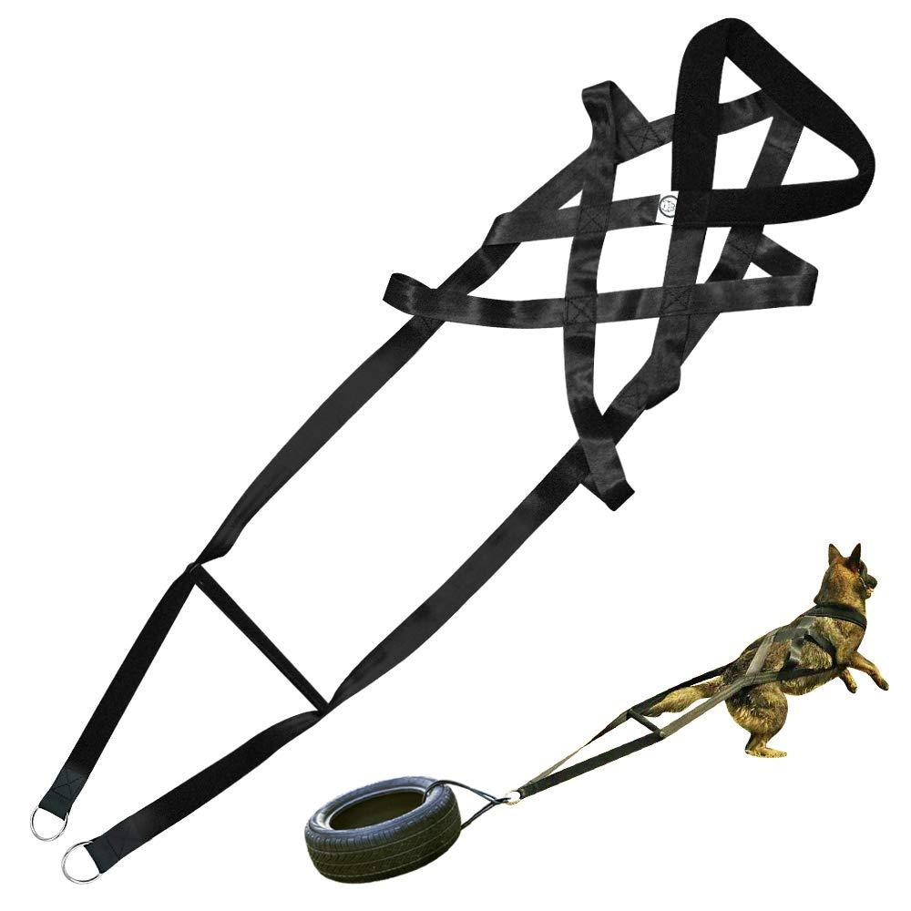 PET ARTIST Dog Weight Pulling Training Harnesses for Large Work Dogs Behaviors Training, Dog Pulling Sledding Harnesses for Weight Pulling,Canicross,Sled,Ski-Joring by PET ARTIST