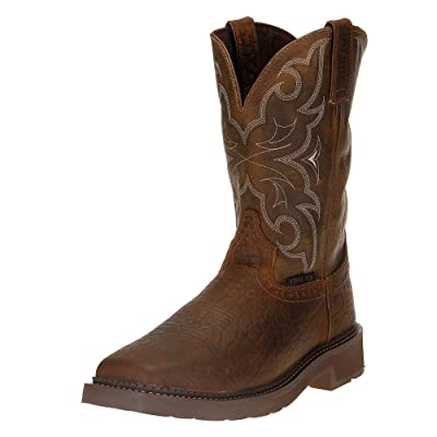 Justin Boot Company Mens Stampede Amarillo 11 Cactus Top Steel Toe Work Boot: Sports & Outdoors