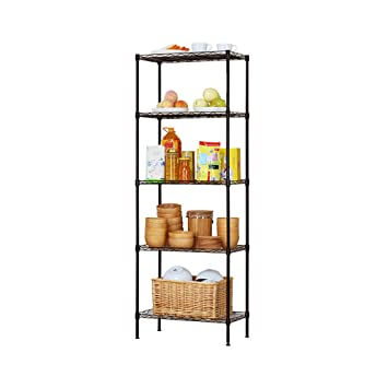 Amazon.de: 5-Tier Lagerregal Draht Regal Einheit Freistehende Rack ...
