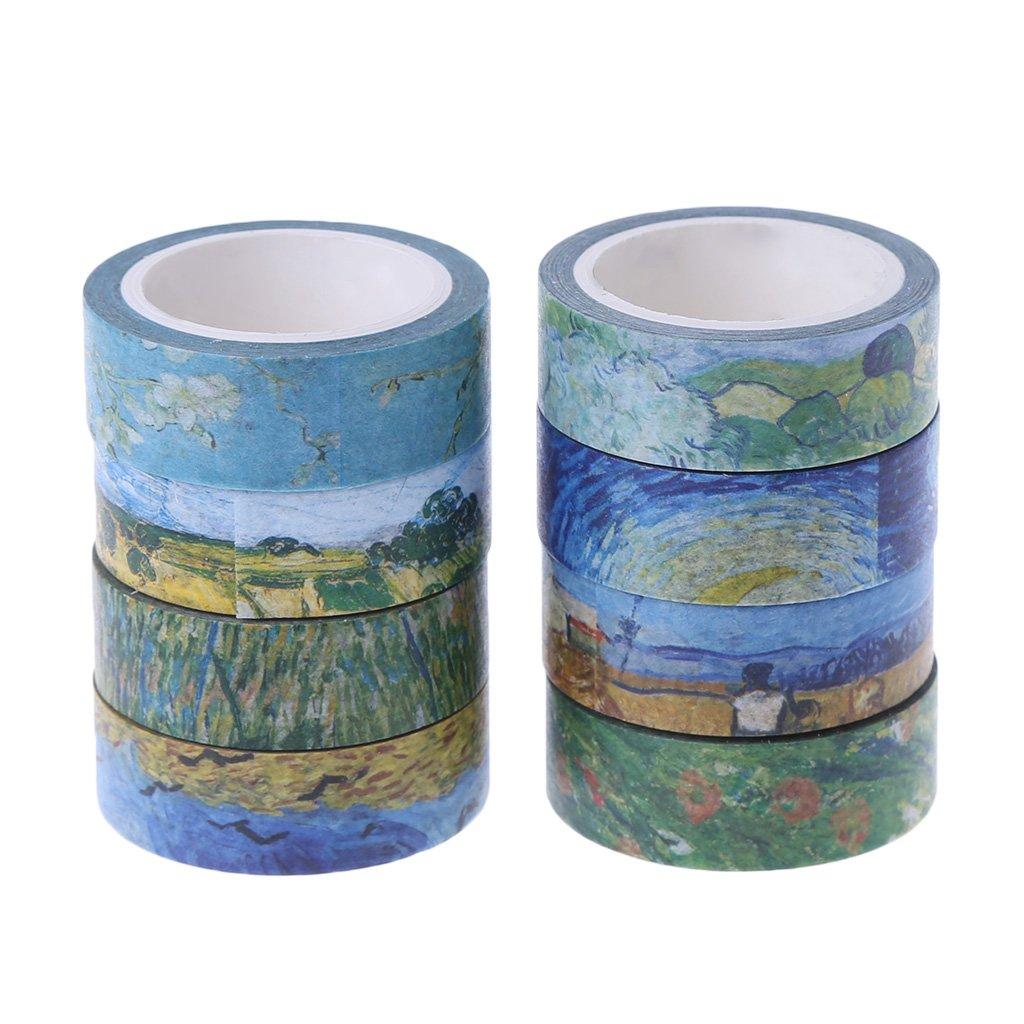 decoraci/ón Guoyy Washi Cintas autoadhesivas para bricolaje manualidades pintura