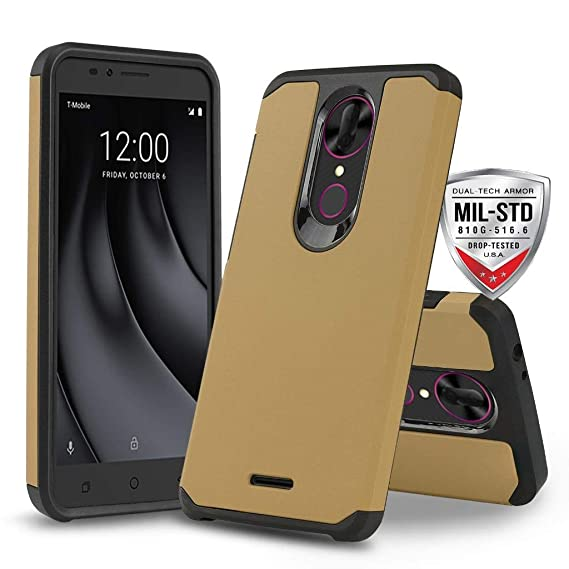 finest selection 9032b f5d3d Phonelicious GreatCall Jitterbug Smart 2 Phone Cover Dual Layer Slim Hybrid  Rugged Protective with Screen Protector and Stylus (Gold)