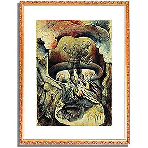 ウィリアムブレイク「Gesang der Holle. Aus der Zeichenfolge zu Dantes gottlicher Komodie. 」 インテリア アート 絵画 プリント 額装作品 フレーム:装飾(金) サイズ:M (306mm X 397mm) B00NKR0W4Y 2.M (306mm X 397mm)|4.フレーム:装飾(金) 4.フレーム:装飾(金) 2.M (306mm X 397mm)