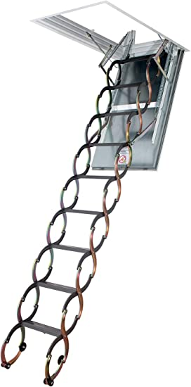 Fakro Lsf 66858 Fire Resistant Insulated Steel Scissor Attic Ladder For 22 Inch X 47 Inch Rough Openings Amazon Com
