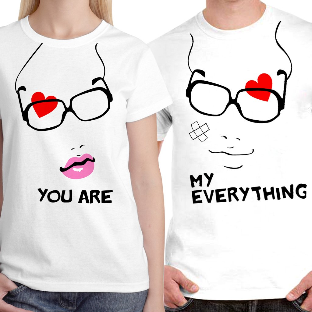 Romantic Couple Love Expressing t-Shirt Pair for Husband -Wife