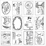 Adorn-It 25 sheets Art Play Paintable Hello Cardstock, 12 x 12''