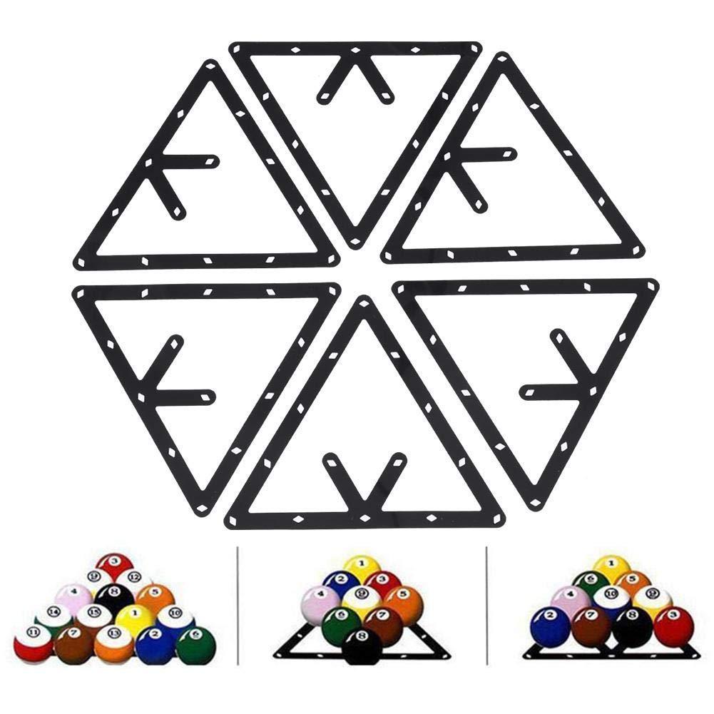 6 St/ück//Set Triangle Rack Pool Tisch Ball Holder Positioning Rack Billard Zubeh/ör Dilwe Billard-Rack