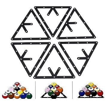 Dioche Billard Rack Halter 6Pcs Billard Rack Schwarz Dreieck Ball Holder Positionierung Billardtisch Pool Queue Zubeh/ör
