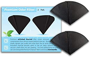 GOODVAC Filter Queen Activated Charcoal Filter Cones 2 Pack Odor Filters Replacement (2)
